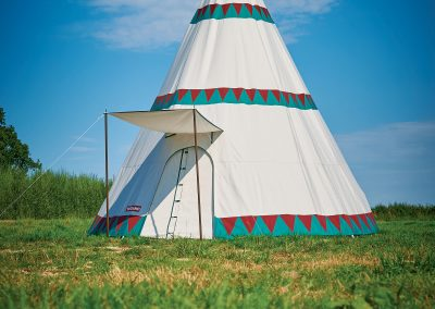 Tipi front view