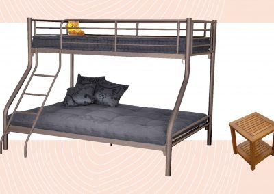 Metal mezzanine bunk bed