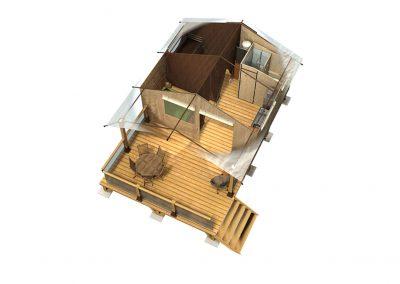 Plano 3D Victoria 30 con cuarto de bano