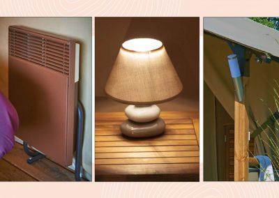 Calefacción y lámparas de mesilla