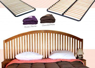 Tête de lit acacia