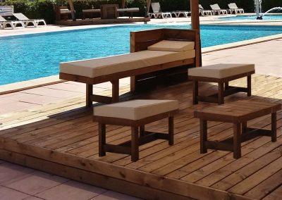 bain de soleil – canapé extérieur